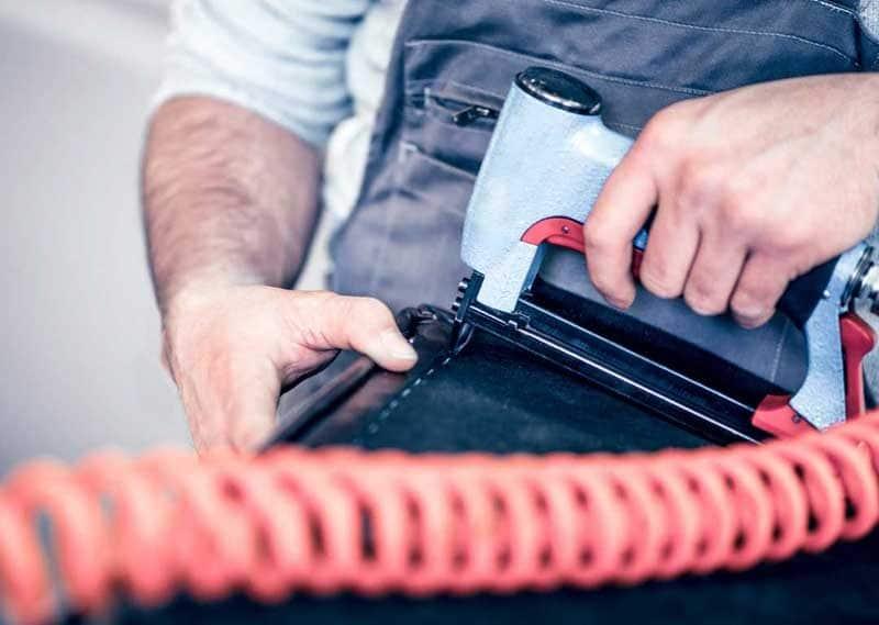 Staple Gun Leather Upholstery Repair
